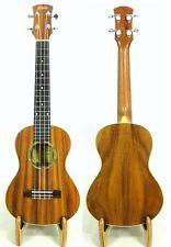 Alulu Solid Acacia Koa Tenor Ukulele, natural wood grain, Free Hard case HU754