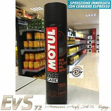 MOTUL A2 Olio Spray per Filtri Aria Spugna Schiuma Moto Cross Enduro Quad 400ml
