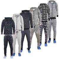 New Mens Brand Style Designer Men Tracksuit Bottom Hoodie Set Lined Hood Zip Top