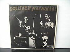 "THE ROLLING STONES got LIVE if you want it! UNBOXED DECCA 7"" VINYL EP DFE 8620"