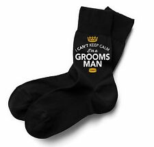 Groomsman Socks Wedding Keepsake Gift Stag Party Present Cold Feet Him Funny