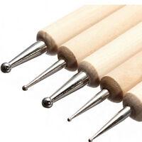 2 Way Wooden Marbleizing Dotting Manicure Painting Tools Dot Pen Nail Art Paint
