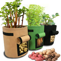 Potato Vegetable Growing Bag Side Window Plant Container Pouch Garden Grow Pots