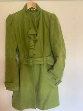 Women's Coat/Jacket -Velvet Feel -Green -Big Shoulders - Designer - Stunning