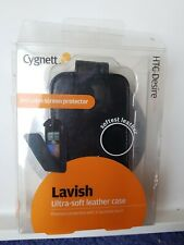 HTC DESIRE CYGNATT BLACK LAVISH ULTRA_SOFT LEATHER CASE,INCLUDE SCREEN PROTECTOR