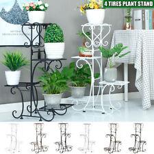 4 Tier Metal Plant Stand & Flower Pot Holder Garden Home Office Indoor