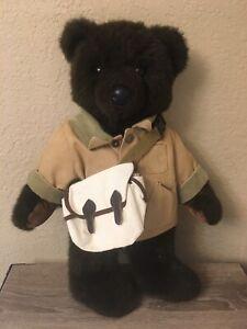 "LL Bear LL Bean Teddy Bear Fisherman 18"""