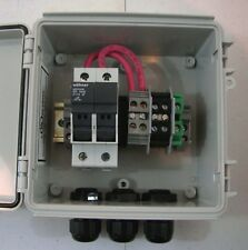 Solar Panel Combiner Box - 2-String Fused PV Solar Power Combiner