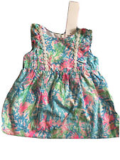 Nwt! Lilly Pulitizer Infant Annabelle Dress In Coral Bay Size 6-12