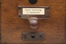 Card Catalog : 30 Notecards from the Library of Congress (2013, Cards,Flash...