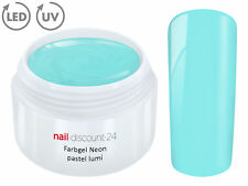 UV LED Farbgel NEON PASTEL LUMI French Color Gel Modellage Nail DesignNagel Blau