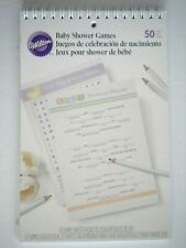 WILTON ~ BOOK OF BABY SHOWER GAMES ~ 50 Sheets
