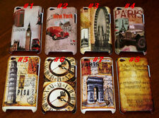 FOR IPOD TOUCH 4TH ITOUCH VINTAGE LOOK CASE SOUVENIR PARIS LONDON ROME NY\