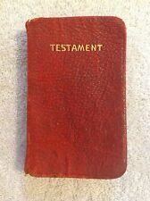 Antique Small New Testament Only Bible. 1912.  Free US Shipping!