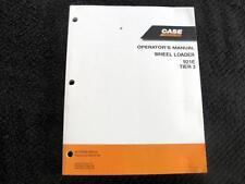 2009 CASE 921E TIER 3 WHEEL LOADER TRACTOR OPERATORS MANUAL VERY CLEAN