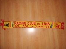 Rare écharpe collector finale Coupe de FRANCE 1998 RC LENS - PSG