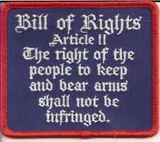 BILL OF RIGHTS - ARTICLE II  USA  PATCH