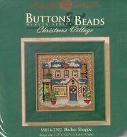 Christmas Barber Shoppe Mill Hill Beads Cross Stitch Kit