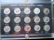1941-1945PDS Mercury Dime Set Hight Grade (XF-AU)