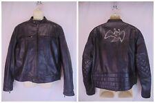 NWT BELSTAFF BLACK LEATHER BLACK PRINCE ANGEL PRINT MOTORCYCLE JACKET SIZE L