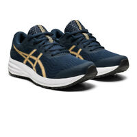 Asics Womens Patriot 12 Running Shoes Trainers Sneakers Gold Navy Blue
