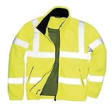 Portwest High Visibility Rail Specification Mesh Lined Fleece Jacket F300 Yellow M Regular