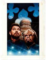 Keith Birdsong Star Trek Next Generation ORIGINAL ART book cover TNG Riker Worf