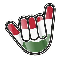 No Worries Hand With Hungary Hungarian Country Flag vinyl car Truck sticker Etc