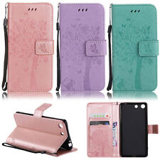 Cat Tree Wallet Leather Flip Case Cover For Sony Xperia XZ Z4 Z5 L1 C5 E4 XA XA1