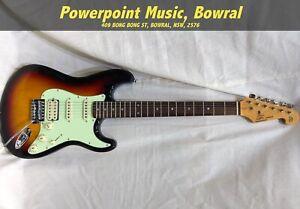 SX VES62HTS Vintage Style Electric guitar HSS - 3 Tone Sunburst + Bag