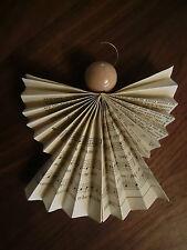 Sechs Weihnachtsdeko Engel aus Gotteslob Gebetbuch Christbaumdeko