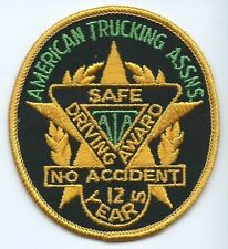 American Trucking Assns (ATA) Safe Driving Award No Accident 12 Years Oval Patch