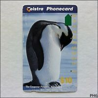 Telstra Antarctic Emperor Penguin N962623a 1215 $10 Phonecard (PH6)