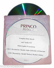 2CD Complete Holy Quran In Arabic With English Translation Mp3 Audio Mashary