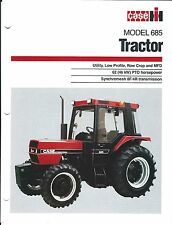 Farm Tractor Brochure - Case IH - 685 - c1980's - With Cab - 4 page ver (F4695)