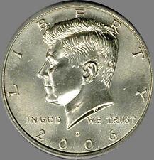 2006 P & D 2 Coin Kennedy Half Dollar Gem Bu Set Satin Finish No Reserve