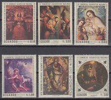 L' équateur 1967 ** mi.1337/42 tableaux paintings vargas rodriguez santiago [sq5501]