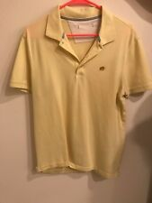 Mens Banana Republic Large Yellow Short Sleeve Polo Shirt