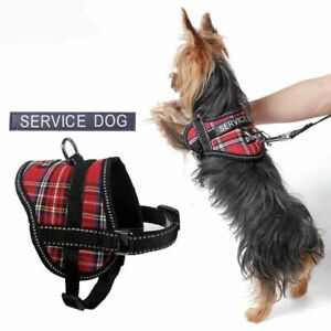 Reflective Dog Service Harness With Attachable Slogan Pet Puppy Collar Harness