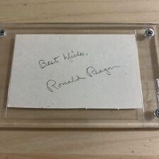 New ListingPresident Ronald Reagan Signed Cut Autograph
