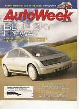 Autoweek Jan 13, 2003 - GM Hy-wire Concept Car - Volvo S60R - Mini Cooper