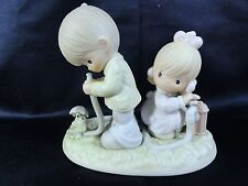 """Precious Moments """" There Shall Be Showers Of Blessings """" Figure In Box Retired"""