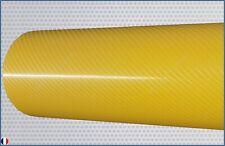 film vinyle carbone 4D jaune thermoformable sticker adhésif covering 20cm x 10cm