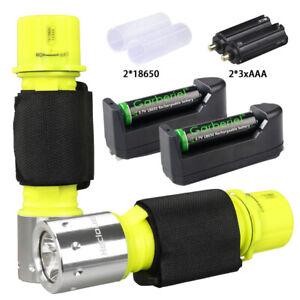 Underwater Diving Scuba T6 LED Flashlight Waterproof 18650 Torch Lamp Light New