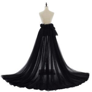 Wedding Tulle Skirt Bridal Overskirt Wedding Overskirt Detachable Train Skirt