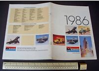 1986 Vintage Monogram USA Plastic Kit Catalogue - Space Shuttle, B1 Bomber etc