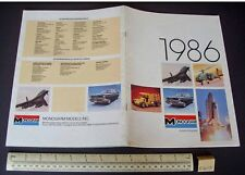 1986 VINTAGE MONOGRAM USA Kit Plastique catalogue-Navette Spatiale, bombardier B1 etc