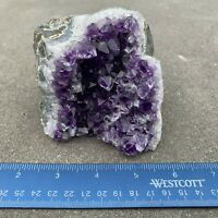 Amethyst Druze Crystal Cluster With Cut Base ~ Exact Specimen (ACB_3)