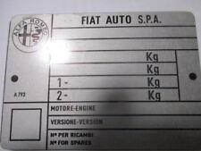 Nameplate Alfa Romeo Fiat Youngtimer 75 90 164 166 147 146 145 S47 s56