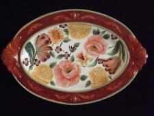 """Pamela Gladding Floral Tapestry 20"""" Oval Platter Certified International EXC"""